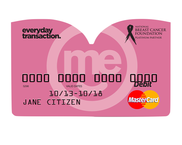 Me Bank Breast Cancer Support Card